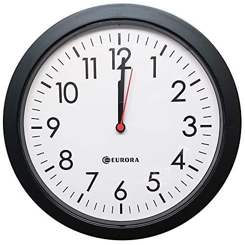 Relógio de Parede Eurora Preto Redondo Medio 6575-145