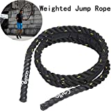 Weighted Jump Rope Skipping Rope Workout & Battle Rope for Strength & Endurance Training Todal Body