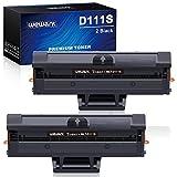 Wewant Toner D111S Reemplazo para Samsung MLT-D111S D111L Cartucho de Tóner Compatible con Samsung Xpress SL M2020 M2020W M2021 M2021W M2022 M2022W M2026 M2070 M2070W M2070F M2071 M2078, 2 Negro