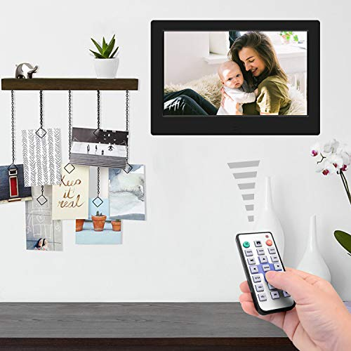 Tenswall Digital Photo Frame 7 Inch HD 1024x600, Digital Picture Frame Full IPS Display Photo/Music/Video/Calendar/Time, Auto On/Off Timer, Support USB Drives/SD Card,Remote Control