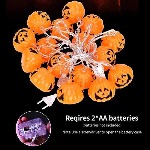 LISOPO Zucca Di Luci Stringa Luci di stringa di zucca di Halloween 16 Led Luci della Stringa della Zucca della Decorazione Halloween, Per Natale Cosplay Decoration Famiglia Halloween
