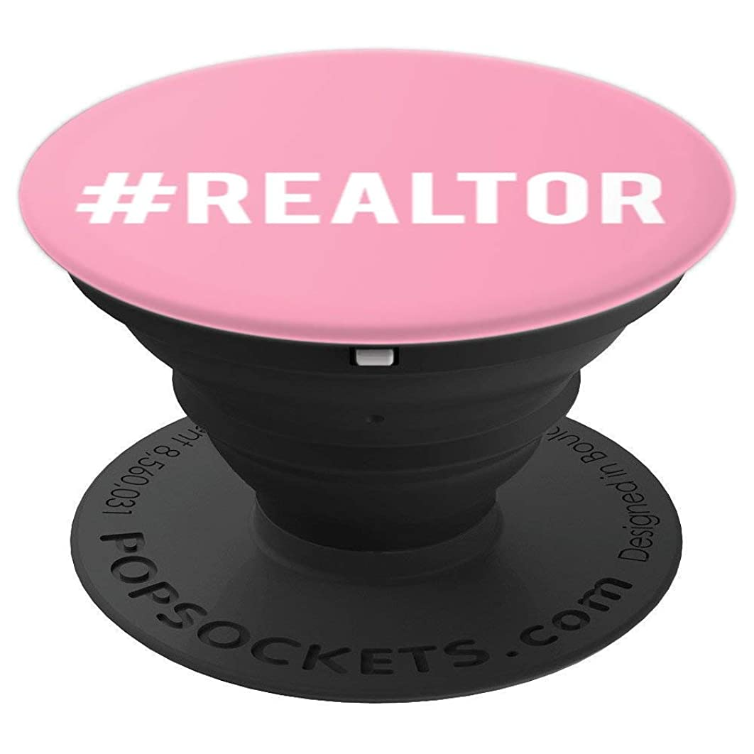 Cute Hashtag Realtor Real Estate Agent Conversation Starter - PopSockets Grip and Stand for Phones and Tablets