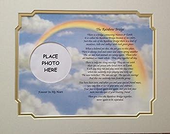 In Memory of Pet Rainbow Bridge Memorial Poem Sentimental Gift for Loss of Dog Cat by Cazual Creations