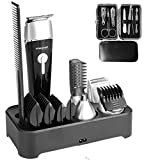 Sminiker Professional 5 in 1 Multi-functional Waterproof Man's Grooming Kit Hair Clippers Beard Trimmer Kit Body Groomer Kit of Mustache Trimmer Nose Hair Trimmer Precision Trimmer
