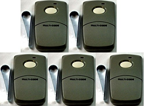 (Ship from USA) 3089 Linear 5-Pack Multi-Code Gate Garage Door Opener 1 Button Remotes MCS308911
