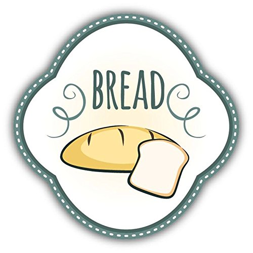 Zirni Bread Badge Food Sticker Decal Design 5' X 5'