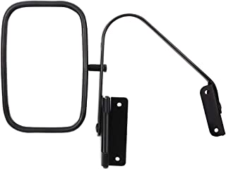 Aintier Towing Mirror Fit Compatible with1980-1996 Ford Ford F-Series F150 F250 F350 Bronco Truck Towing Mirror Manual Telescopic Black Texture Housing Rear View Mirror with Manual Folding