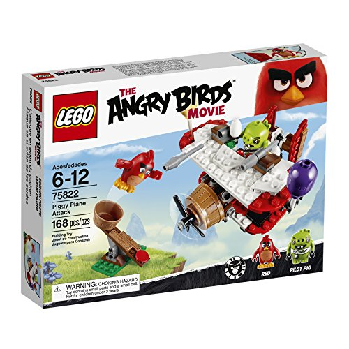 LEGO Angry Birds 75822 Piggy Plane Attack Building Kit (168 Piece) by LEGO