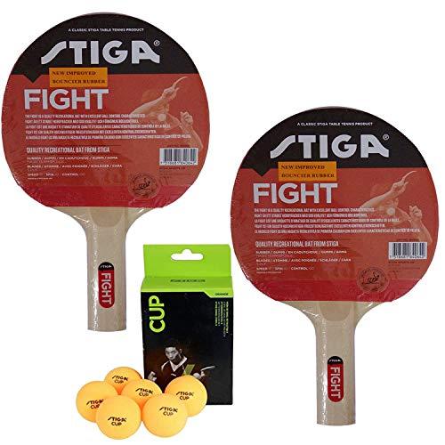 Stiga Table Tennis Racket with Balls (TT Kit)