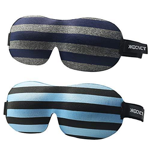 3D Sleep Mask(2pack)Comfortable Super Soft, Adjustable 3D Contoured Eye Masks for Shift Work, Naps, Night Blindfold for Men and Women.Block Out Light.For a deep and restful sleep complete