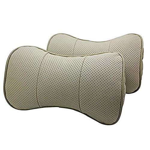 Autosunshine Cuir véritable Bone-shape Siège auto cou appui-tête de repos confortable Coussin Oreiller