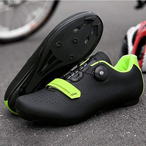 Zapatillas Bicicleta Carretera, Zapatillas Ciclismo Para Hombre, Zapatillas CóModas Primera Calidad, Con Tacos, Zapatillas Spd Para Hombre, Zapatillas Ciclismo Carretera Para Interior B-UK 4=EU 38