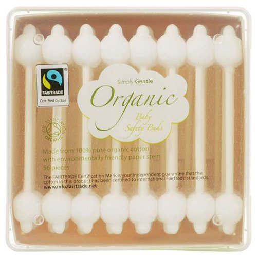 Simply Gentle Organic Cotton Baby Safety - Pack of 56 Buds
