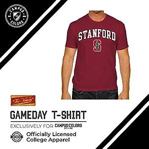 Campus Colors Adult Arch & Logo Soft Style Gameday T-Shirt (Stanford Cardinal - Cardinal, Medium)