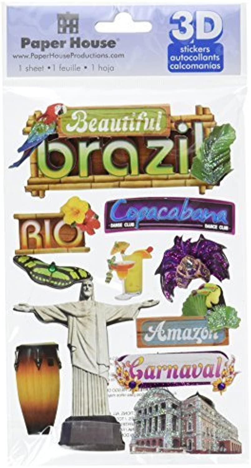 Paper House Productions Productions Productions STDM-0115E 3D Cardstock Stickers, Brazil (3-Pack) by Paper House Productions B01KBBE7VU | Toy Story  9037a3