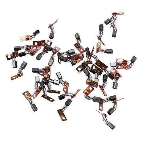 Nixi888 40pcs Motor eléctrico Cepillos de Carbono Reemplace para/Saeyang Series Máquina de Pulido Micromotor Pieza de Mano 3x3x4.5m Conector de rodamiento morígen Cepillo de Carbono