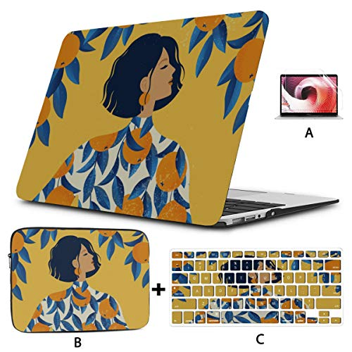 Laptop Hard Cases Cool Sour Summer Cute Fashion Lemon Mac Computer Case Hard Shell Mac Air 11'/13' Pro 13'/15'/16' With Notebook Sleeve Bag For Macbook 2008-2020 Version