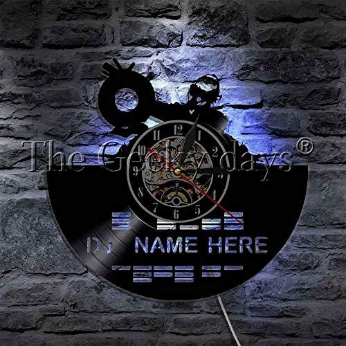 Kopfhörer Mixer Jockey Custom Name Glowood Tischlampe NachttischlampeBatterietischlampe