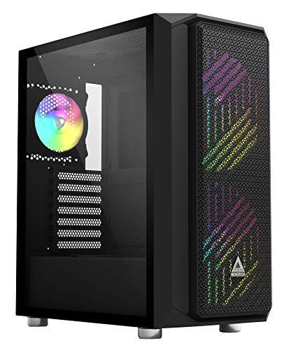 Montech Malla diamontada única/Flujo de Aire súper Alto/Vidrio extraíble/E-ATX/ATX/Micro-ATX/Mini-ITX/Estuche para computadora para Juegos |Negro|Montech Air X ARGB-Negro