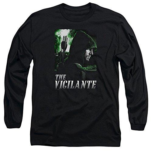 Green Arrow - T-shirt Star City Defender homme manches longues, Medium, Black