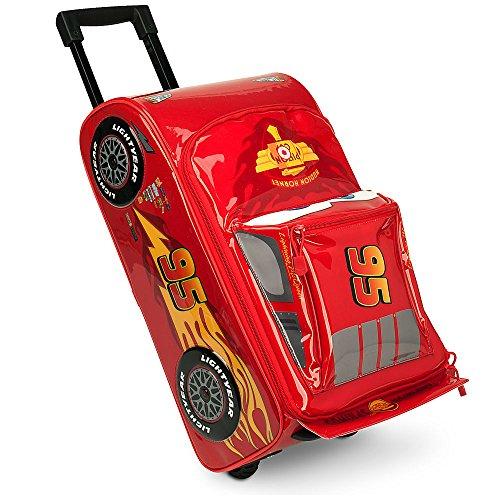 Disney Lightning McQueen - Maleta con ruedas (rojo)