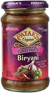 Patak's Original Biryani Curry Paste Concentrated Medium 10 oz(Pack of 2)