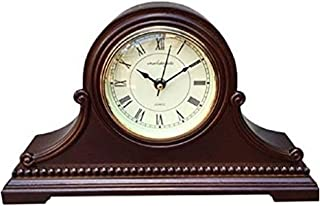 Vmarketingsite Mantel Clocks, Battery Operated, Silent Wood Table Clock with Westminster Chimes On The Hour, Solid Wooden Shelf Decorative Chiming Mantle Clock, 9