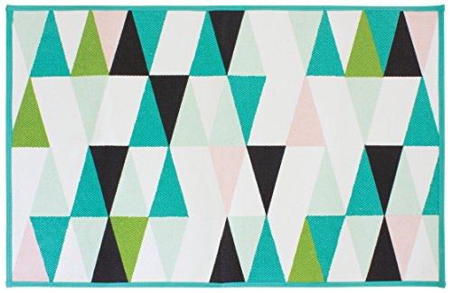 Gelco Design 710707 Tapis de Bain, Coton/Envers Latex, Multicolore, 80 x 50 x 0,38 cm