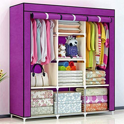 JHDDP3 Muebles de Almacenamiento portátiles de Pliegue no Tejido Cuando el Cuarto de Armario de armarios gabinete, Armario de Dormitorio, Ciruela (Color : Violet)