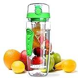 Gourde à infusion pour fruits et eaux détox – Omorc – 1L Vert