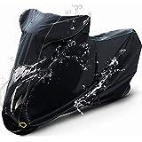 Barrichello(バリチェロ) バイクカバー ブラック M~7L 選べる8サイズ 高級 オックス 300D 使用 厚手 生地 防水 【6L】