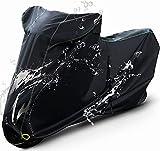 Barrichello(バリチェロ) バイクカバー ブラック M~7L 選べる8サイズ 高級 オックス 300D 使用 厚手 生地 防水 (2L)