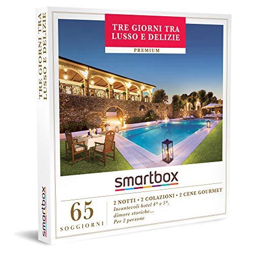 Smartbox - Tre Giorni Tra Lusso e delizie - Cofanetto Regalo Coppia, 2 Notti con Colazione e Due Cene per 2 Persone, Idee Regalo Originale