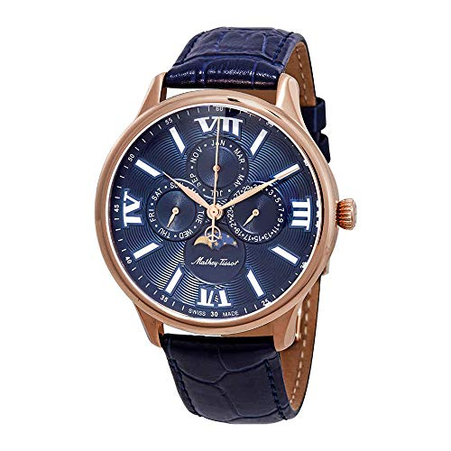 Mathey-Tissot Edmond Moon Phase Blue Dial Men's Watch H1886RPBU