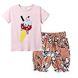 Sunnymi - Juego de ropa para bebé y niña, 1 – 7 años, ropa deportiva dorado 2-3 Años