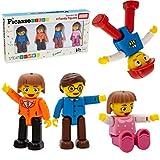 PicassoTiles 4 Figuras de acción Familiares magnéticas, Juguete para niños pequeños, Paquete de expansión con imán, complemento Educativo, Kit de Aprendizaje de Stem, Juguetes, Juego de simulación