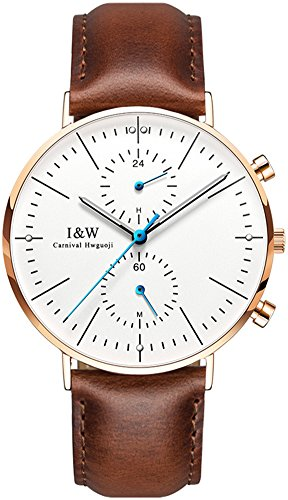 Mens Quartz Dual Time Display Couples Watch Carnival Ultrathin Analog Watch