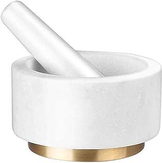 CLLBB مورتر ومجموعة مدفوعة من الجرانيت الطبيعي الصلب والدائم، أسفل القاع مقاومة للخدش - البهارات المطبخ، طاحونة بيستو