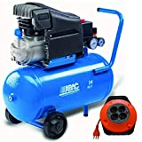 Compresor de aire Abac Art.1129100021 POLE POLE POSITION L20-10 Bar HP2 litros 24 regalo alargador eléctrico 5 m cable 3 x 1,5 10/16 + T bicapa
