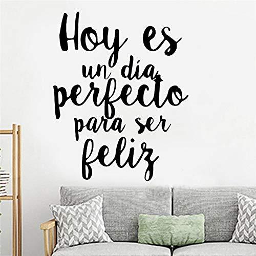 Pegatinas de pared de frase en español talladas, sala de estar, dormitorio, decoración del hogar, niños, habitación de niños, vinilo, arte, murales, decoración A9 42x29cm