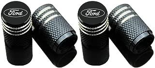 EVPRO Valve Stem Caps 4 Pack Black Car Tire Decorative Fit for Ford Accessories