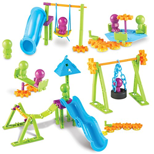 Learning Resources Playground Engineering & Design STEM Set, 104 Pieces, Ages 5+