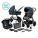 Kinderkraft Pram 3 in 1 Set XMOOV, Travel System,...