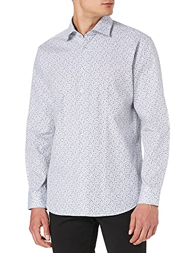Seidensticker Herren Shaped Fit Langarm Poplin Hemd, Blau (Blau 18), (Herstellergröße: 40)