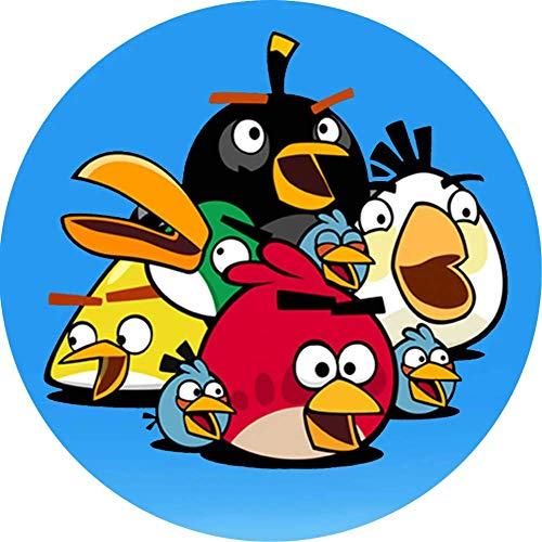 Angry Birds Runde Tortenaufleger 20CM - Geburtstag Tortenbild Zuckerbild Tortenplatte Oblate Kuchenzuckerplatte