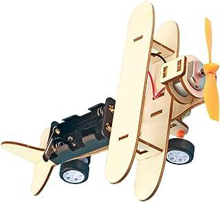 Scicalife DIY Wood Flygplan Leksak Trä Flygplan Konstruktions Kit Hantverk Leksaksplan DIY Trä Leksaker Montering Modell O...