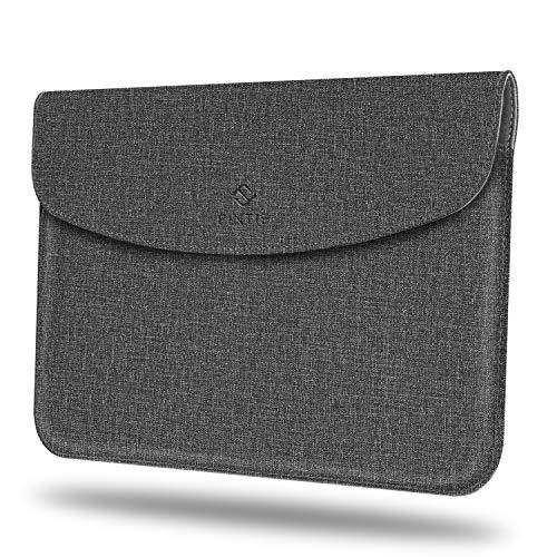 Fintie Sleeve Tasche Hülle für Microsoft Surface Go 2 2020/ Surface Go 2018 10 Zoll Tablet - Hochwertige Schutztasche Schutz Cover aus Kunstleder (Type Cover kompatibel), Jeansoptik dunkelgrau