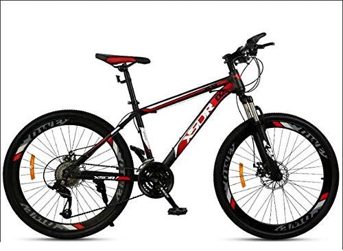 HCMNME Bicicleta Duradera Adulto de Bicicletas de montaña, Bicicletas de Marco Doble Freno de Disco de Acero de Alto Carbono /, Playa de Motos de Nieve Bicicletas, 24 Pulgadas Ruedas, Negro,