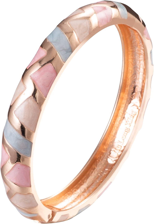 UJOY Cloisonne Bracelet Colorful Cloisonne Design Gold Plated Hinge Enamel Bangle Jewelry for Women Girls 55A41