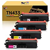 ONLYU Compatible Toner Cartridge Replacement for Brother TN431 TN433 for HL-L8360CDW MFC-L8900CDW HL-L8360CDWT HL-L8260CDW MFCL8610CDW MFCL9570CDW Printer (1Black,1Cyan,1Magenta,1Yellow)